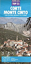 Corte, Monte Cinto 1:25 000 (Top25 4250 OT)