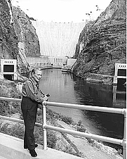 Author photo. Ralston Crawford at Hoover Dam<br>Source: <a href=&quot;http://www.usbr.gov/museumproperty/art/biocrawf.html&quot;>US Bureau of Reclamation Fine Art Collection</a>