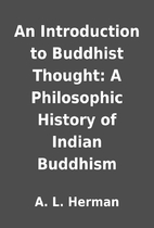 An Introduction to Buddhist Thought: A…