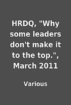 HRDQ, Why some leaders don't make it to the…