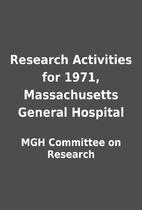 Research Activities for 1971, Massachusetts…