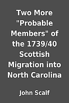 Two More Probable Members of the 1739/40…