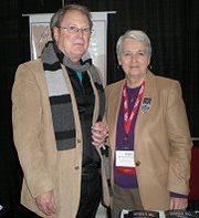 Author photo. Kathryn R. Wall with Jim Veatch at the South Carolina Book Festival.