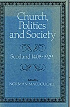 Church, Politics and Society by Norman…