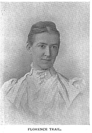 Author photo. Miss Florence Trail (b.1854), Buffalo Electrotype and Engraving Co., Buffalo, N.Y.