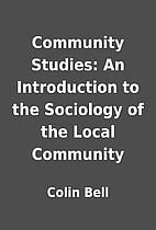 Community Studies: An Introduction to the…