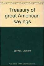 Treasury of great American sayings by…