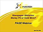 Newspaper Websites: Money Pit or Gold Mine…