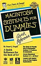 Macintosh System 7.5 for Dummies: Quick…