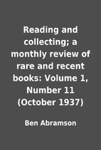 Reading and collecting; a monthly review of…