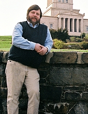 Author photo. Chris Hodapp at the George Washington National Masonic Memorial.