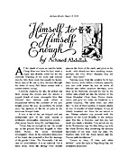 Himself to Himself Enough by Achmed Abdullah