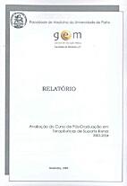 Relatório - Avaliação do Curso de…