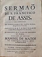 Sermão em dia de S. Francisco de Assis, na…