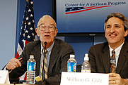 Author photo. Robert M. Solow, on left. Center for American Progress