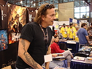 Author photo. Heavy Metal Magazine booth at New York Comic Con 2008, photo by Lampbane