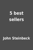 5 best sellers by John Steinbeck