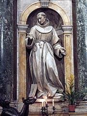 Author photo. Statue of St. Bernardino, Votive Chapel, Duomo, Sienna.  Photo by user Antonio Raggi / Wikimedia Commons