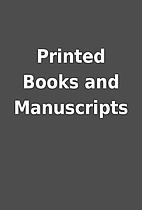 Printed Books and Manuscripts