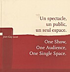 One Show, One Audience, One Single Space.…