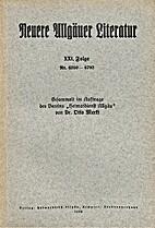 Neuere Allgäuer Literatur XXI. Folge Nr.…