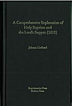Comprehensive Explanation of Holy Baptism…