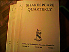 Shakespeare Quarterly, Volume XII Numbers…