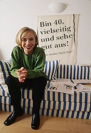 Author photo. Amelie Fried im Oktober 1998/ Andreas Bohnenstengel
