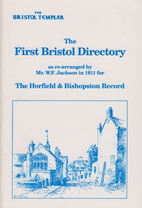 The First Bristol Directory as re-arranged…