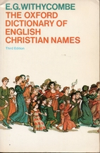 The Oxford Dictionary of English Christian…