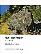 Rock Art Papers Volume 5 (San Diego Museum…