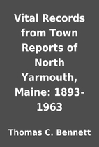 Vital Records from Town Reports of North…
