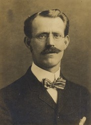Author photo. 1904 photo of Edward Stratemeyer who wrote under the pen name of Capt. Ralph Bonehill