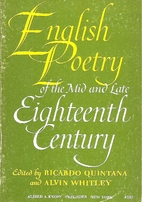 English poetry of the mid and late…