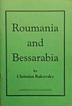 Roumania and Bessarabia by Christian…