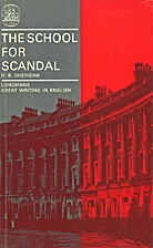 The School for Scandal: A Comedy (Longmans…