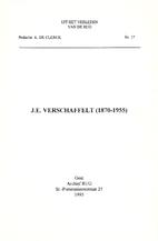 J.E. Verschaffelt (1870-1955) by Bart Van…
