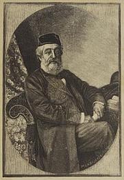 Author photo. Louis Loewe - wood engraving by W. Bojarski (Location: Jewish Museum London)