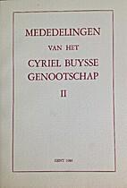 Mededelingen van het Cyriel Buysse…