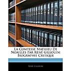 La comtesse Mathieu de Noailles (French…