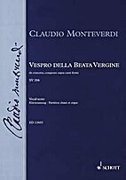 Vespro Della Beata Vergine (Vocal Score). By…