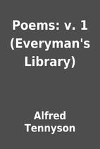 Poems: v. 1 (Everyman's Library) by…