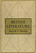 British Literature from Beowulf to Sheridan…