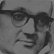Author photo. Cropped scan of back cover of Pelican book A707.
