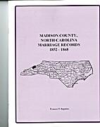 Madison County, North Carolina, marriage…