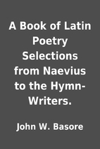 A Book of Latin Poetry Selections from…