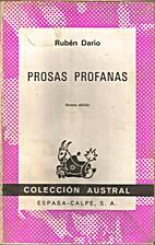 Prosas profanas by Rubén Darío