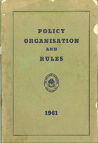 The policy, organisation and rules of the…