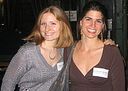 Author photo. Jennifer van der Kwast (right) with Rebecca Krause<br>at the 2006GalleyCat holiday party  <br>Copyright © 2006 <a href=&quot;http://ronhogan.tumblr.com&quot;>Ron Hogan</a>