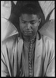 Author photo. Ossie Davis, as Gabriel in The Green Pastures, photo by Carl Van Vechten, April 12, 1951 (Library of Congress, Prints & Photographs Division, Carl Van Vechten Collection, Digital ID: van 5a51884)